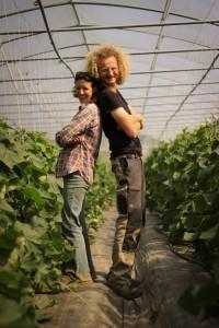 Céline Yeurc'h et Arnaud Daligault, maraîchers bio à Montreuil-le-Gast
