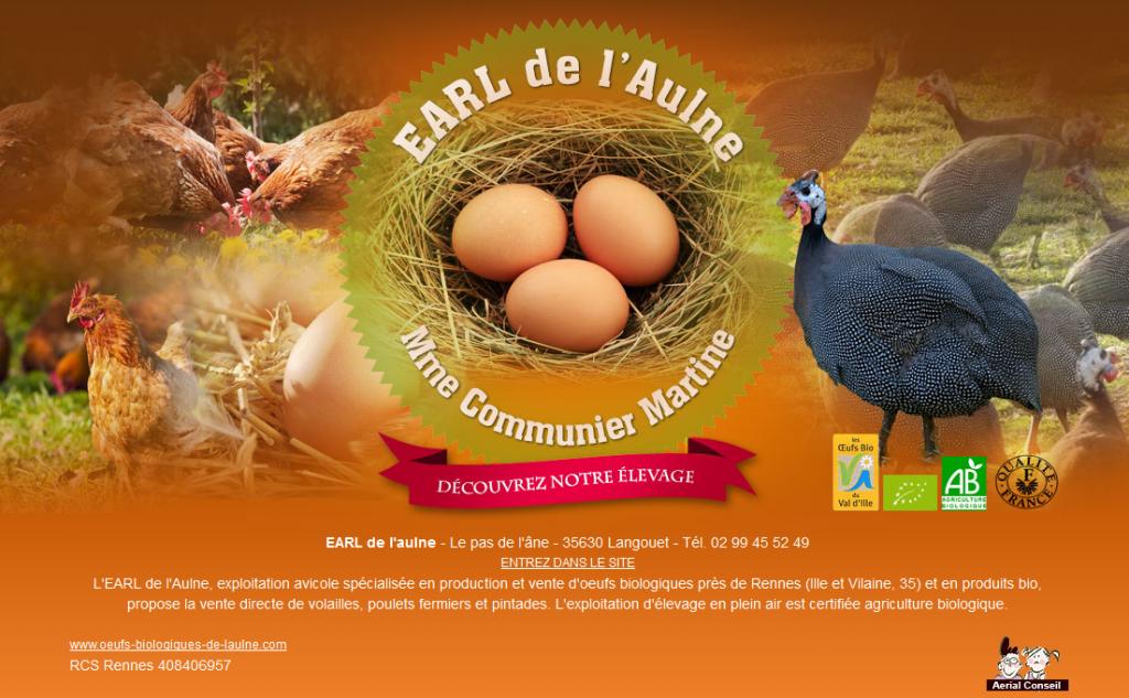 Oeufs biologiques de l'EARL de l'Aulne à Langouët