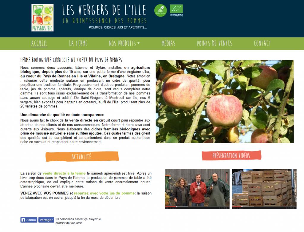 Pommes des Vergers de l'Ille à St Grégoire